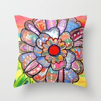 Florem Terrae Bright Throw Pillow