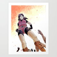 Resident Evil - Claire Redfield Tribute Art Print