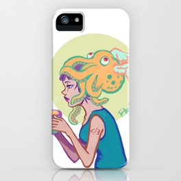 Less than divide three iPhone Case