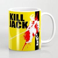 borderlands Mugs featuring KILL JACK - ASSASSIN by Resistance