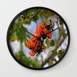 Flame of the Forest Wall Clock