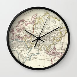 Vintage Map of The World (1816) Wall Clock