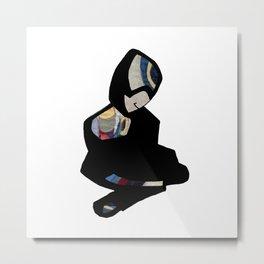 Sitting figure Metal Print
