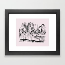 Blush pink - mad hatter's tea party Framed Art Print
