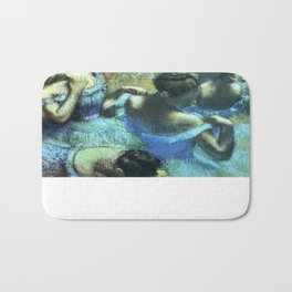 Blue Dancers by Edgar Degas Bath Mat