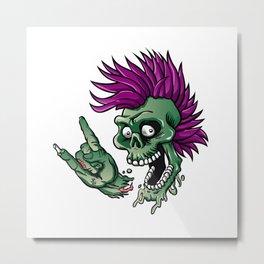 Punk zombie Metal Print