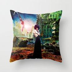Ruins of Forgotten Time Throw Pillow