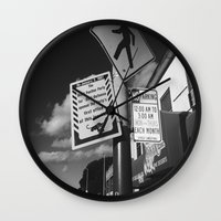 oakland Wall Clocks featuring Oakland Black Panther by KING CHRISTOPHER