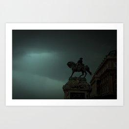 Közelgő vihar Art Print
