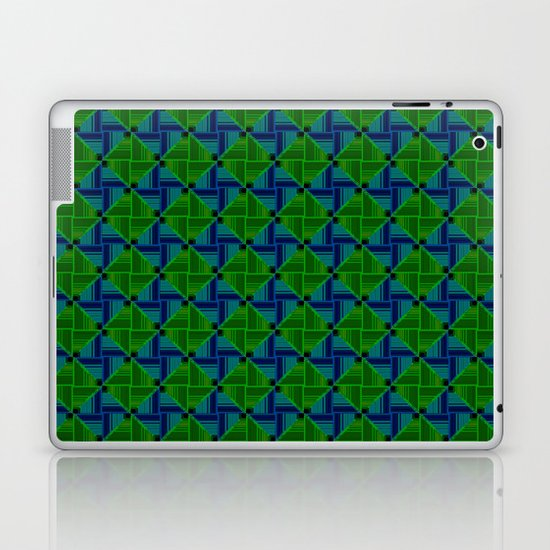 Green Parquet Laptop & iPad Skin