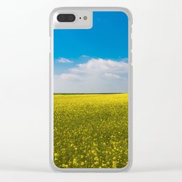 Drifting Days - Blissful Spring Day of Blue Skies and Yellow Canola Fields Clear iPhone Case