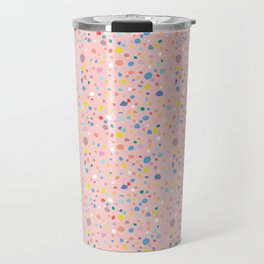 Postmodern Granite Terrazzo Large Scale in Pink Multi Travel Mug