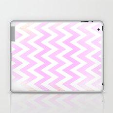 Pale Pink textured Chevron Pattern Laptop & iPad Skin