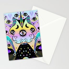 Power of Three Cats Stationery Cards
