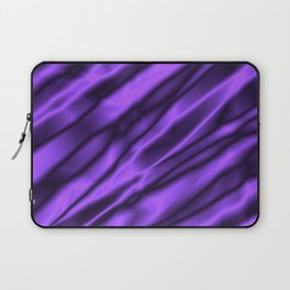 A chaotic cluster of violet bodies on a light background. Laptop Sleeve