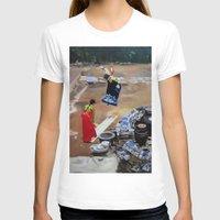 korean T-shirts featuring Korean Seesaw by Robert S. Lee Art