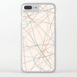 Colored Line Chaos #21 Clear iPhone Case