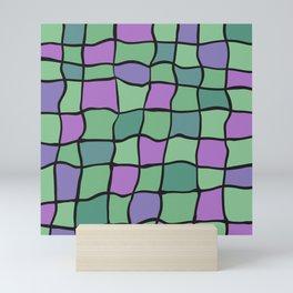 Random tiles Mini Art Print