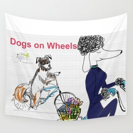 Dogs On Wheels Wall Tapestry