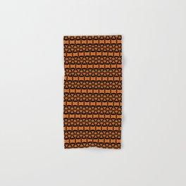Dividers 02 in Orange Brown over Black Hand & Bath Towel