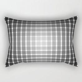 Optical illusion with black strips Rectangular Pillow