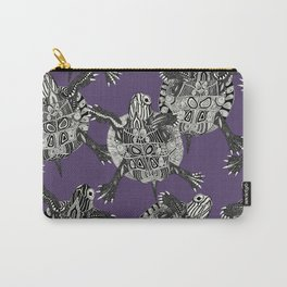 turtle party violet Carry-All Pouch