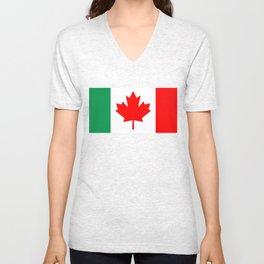 Italo Canadian Unisex V-Neck
