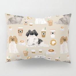 Pekingese dog breed dog pattern pet portraits coffee food dog breeds pet friendly Pillow Sham