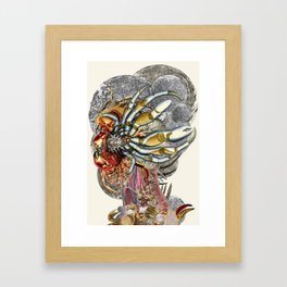 cancer moon anatomical collage art by bedelgeuse Framed Art Print