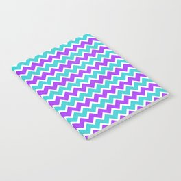 Teal and Purple Chevron Notebook