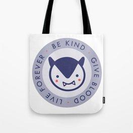 Tiny Vampire Motto Tote Bag