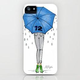 12th Man Umbrella // Fashion Print iPhone Case