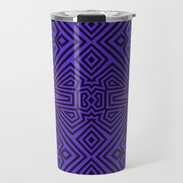 Purple/Black Tribal Pattern Travel Mug
