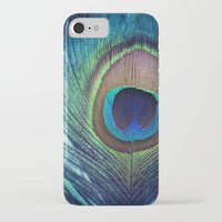 peacock feather iPhone & iPod Cases featuring Peacock Feather by KunstFabrik_StaticMovement Manu Jobst