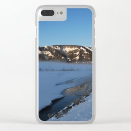 Winter morning at Yellowstone National Park Clear iPhone Case