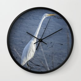 Great Egret at Delta Ponds, No. 2 Wall Clock