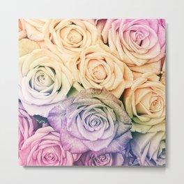 Some people grumble -Colorful Roses - Rose Garden pattern Metal Print