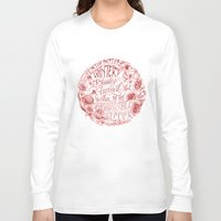 camus Long Sleeve T-shirts featuring Invincible Summer by Biljana Kroll