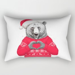 christmas bear Rectangular Pillow