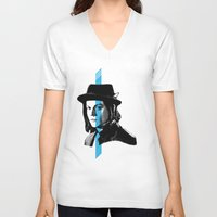 jack white V-neck T-shirts featuring Jack White by nufertity
