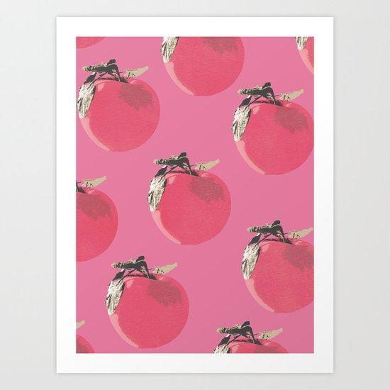 Apple pattern Art Print