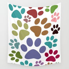 Hairy Footprints Wall Tapestry