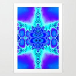 """""""Electric Purplescape"""" Trippy Fractal Art Art Print"""