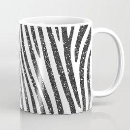 Black Glitter Zebra Stripes Coffee Mug