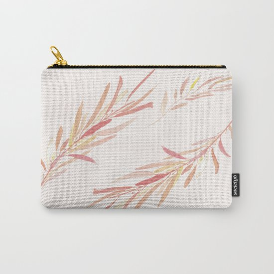 Eucalyptus Leaves Pink Carry-All Pouch