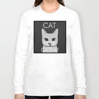 lorde Long Sleeve T-shirts featuring Cat Purr Catnip by MySistersaHippie