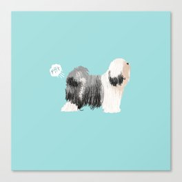 tibetan terrier funny farting dog breed pure breed pet gifts Canvas Print