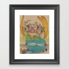 SOMETIMES YOU FALL Framed Art Print