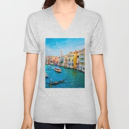 Italy. Venice lazy day Unisex V-Neck