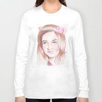 karen Long Sleeve T-shirts featuring Karen Gillan by Gillian McMahon